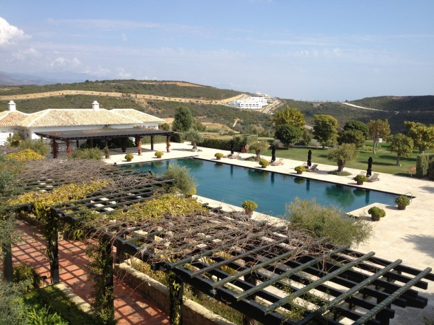 The view at Finca Cortesin