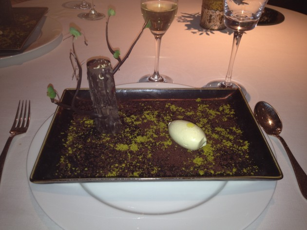 Showstopper Finale - Chocolate Olive Tree with Olive Oil Ice Cream