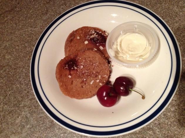 Cherry Velvet Pancakes
